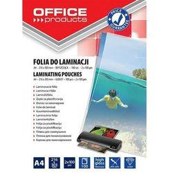 Folia do laminowania A4 błyszcząca transparentna 20325425-90 - OFFICE PRODUCTS