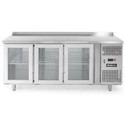 Stół chłodniczy 3-drzwiowy przeszklony z agregatem bocznym HENDI 233436
