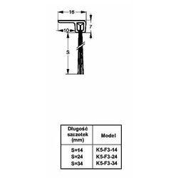 Listwa progowa STRIBO F3-24 1 mb