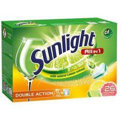 SUNLIGHT 26szt All in 1 Citrus fresh Double action Tabletki do zmywarek z ekstraktem z cytryny