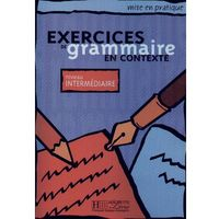 Książki do nauki języka, Exercices de grammaire en contexte niveau intermediaire (opr. miękka)