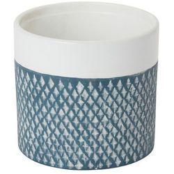 Doniczka ceramiczna GoodHome ozdobna 12 cm niebieska