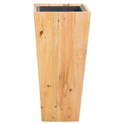 Doniczka drewniana prostokątna 28 x 28 x 60 cm LARISA