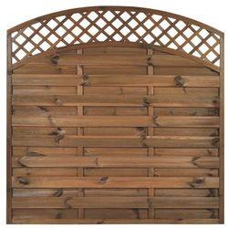 Płot szczelny z łukiem i kratką 180x180 cm drewniany NIVE NATERIAL 2021-07-14T00:00/2021-08-03T23:59