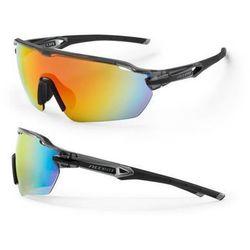 Okulary Accent Reflex czarno-szare, 2 pary soczewek