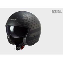 KASK MOTOCYKLOWY LS2 OF599 SPITFIRE MATT BLACK FLAG - nowość 2021