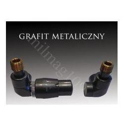 Zestaw zaworów grzejnikowych termostatycznych LUX lewy GRAFIT