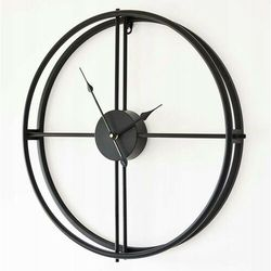Zegar minimalistyczny metalowy czarny