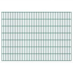 vidaXL Panele ogrodzeniowe 2D z słupkami 2008x1430 mm 42 m Zielone Darmowa wysyłka i zwroty