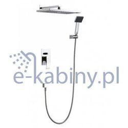 Bateria Blue Water Zestaw blue water liw-zkp.150c prysznicowy podtynkowy z deszczownicą i prysznicem LIW-ZKP.150C