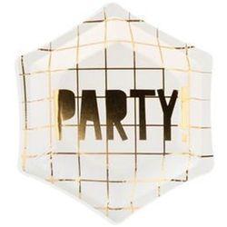 Talerzyki papierowe białe Party! - 12,5 cm - 6 szt.