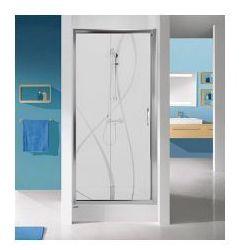 SANPLAST D2/TX5b Drzwi przesuwne 110x90, profile srebrny połysk, szkło transparentne + Glass Protect 600-271-1130-38-401