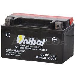 Akumulator UNIBAT AGM CBTX7A-BS 12V 6Ah 90A lewy+