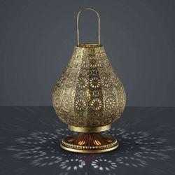 Stojąca LAMPKA nocna JASMIN 503700104 Trio orientalna LAMPA ażurowa mosiądz