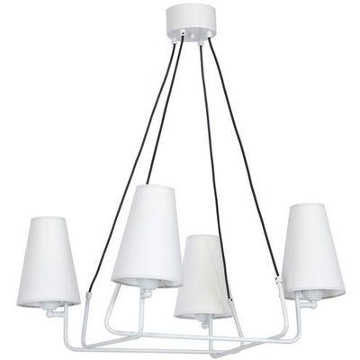 Lampa wisząca Luminex Naxos 8416 lampa sufitowa 4x60W E27 szara (5907565984163)