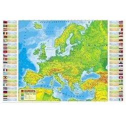 Podkład oklejany na biurko Europa fizyczna