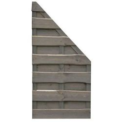 Płot skośny 90x180 cm drewniany szary NEVADA WERTH-HOLZ