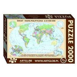 Puzzle 2000 dla dzieci świat mapa polityczna