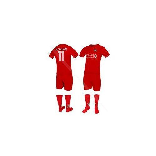 Odzież do sportów drużynowych, SALAH - LIVERPOOL - strój komplet piłkarski ze skarpetami BS Sport