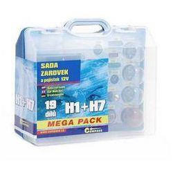 Zestaw Żarówki samochodowe Compass 12 V box MEGA H1 + H7 + bezpieczniki