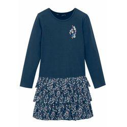 Sukienka shirtowa dziewczęca z bawełny organicznej bonprix ciemnoniebieski