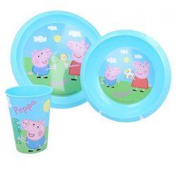 Peppa Pig - Zestaw naczyń (Talerz, miska, kubek)