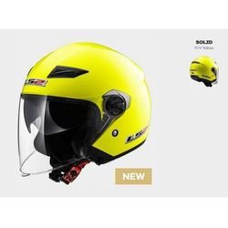 Kask MOTO KASK LS2 OF569.2 TRACK SOLID H-V YELLOW - BLENDA!
