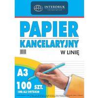 Pozostałe artykuły papiernicze, Papier kancelaryjny w linie Interdruk A3 100szt.