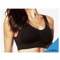 Odzież fitness, Biustonosz - top sportowy bezszwowy mocno podtrzymujący - biały i czarny - CzSalus