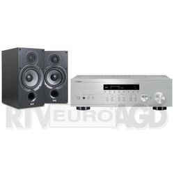 Yamaha MusicCast R-N303D (srebrny), Elac Debut 2.0 B6.2 (czarny)