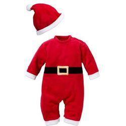 Kombinezon św. Mikołaja dla niemowląt (2 części) bonprix czerwony