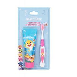 Pinkfong Baby Shark zestaw Szczoteczka do zębów 1 szt + Pasta do zębów 75 ml dla dzieci