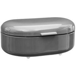 Metalowy chlebak RETRO, pojemnik na pieczywo - kolor szary, 40 x 25 x 17 cm