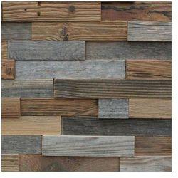Retro drewno - ściana 3D
