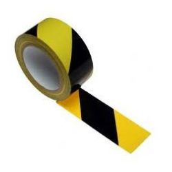 Taśma ostrzegawcza samoprzylepna żółto czarna szerokość 50 mm