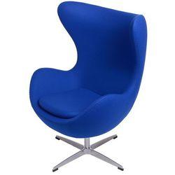 Fotel Jajo niebieski ciemny kaszmir 118 Premium