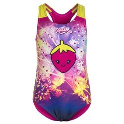 Speedo APPLIQUE Kostium kąpielowy electric pink/navy/lime punch