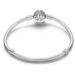 Rodowana srebrna bransoleta pandora baza charms kulka ball 19cm srebro 925 SL001