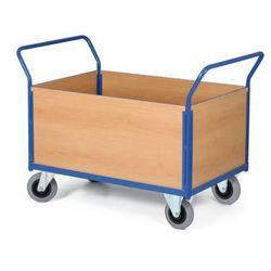 Modułowy wózek platformowy - 2 uchwyty, 4 ściany pełne