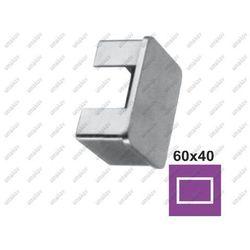 Zaślepka profila AISI304, 60x40x1,5mm