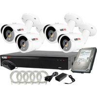 Zestawy monitoringowe, Plug&Play Zestaw do monitoringu IP Rejestrator LV-NVR4415S-4P + 4x Kamera LV-IP2M3TFE + 1TB