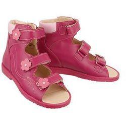 DAWID 952 bordo/bordo/róż, obuwie profilaktyczne dziecięce, rozmiary 31-36 - Różowy