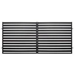 Brama dwuskrzydłowa Polbram Steel Group Lara 2 3,5 x 1,54 m czarna