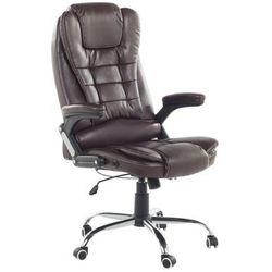 Krzesło biurowe brązowe skóra ekologiczna ROYAL