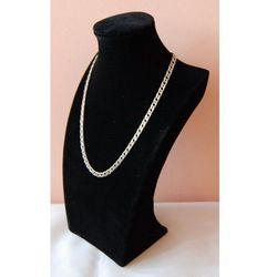 Ekspozytor do prezentacji biżuterii - popiersie zamszowe, czarne, pełne średnie