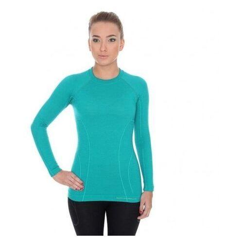 T-shirty damskie, BRUBECK koszulka ACTIVE WOOL damska szmaragdowy