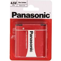 Baterie, bateria cynkowo-węglowa Panasonic 3R12 - płaska (blister)