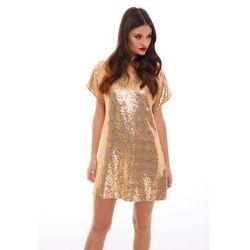 Sukienka Sagitta w kolorze złotym