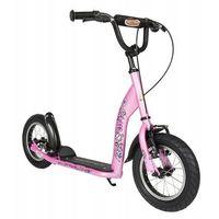 """Hulajnogi, Hulajnoga dla dzieci pompowane koła 12"""" BikeStar kolor różowy"""