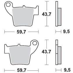 KLOCKI HAMULCOWE KH346 METALICZNE: 11 CR 125-250, CRF 450 MOTO-MASTER M094311
